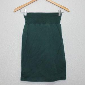 American Apparel Green 100% Cotton Pencil Skirt S